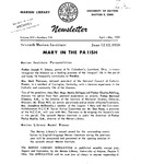The Marian Library Newsletter April-May 1959