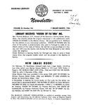 The Marian Library Newsletter February-March 1956