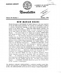 The Marian Library Newsletter October 1956