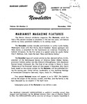 The Marian Library Newsletter November 1956