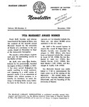 The Marian Library Newsletter December 1956