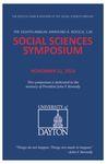 2014 Program: Raymond A. Roesch, S.M., Social Sciences Symposium by University of Dayton