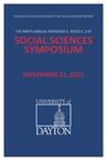 2015 Program: Raymond A. Roesch, S.M., Social Sciences Symposium by University of Dayton