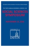 2016 Program: Raymond A. Roesch, S.M., Social Sciences Symposium by University of Dayton
