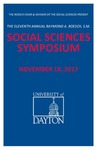 2017 Program: Raymond A. Roesch, S.M., Social Sciences Symposium by University of Dayton