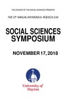 2018 Program: Raymond A. Roesch, S.M., Social Sciences Symposium by University of Dayton