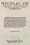 Copernicus: 'De Revolutionibus Orbium Coelestium (On the Revolutions of Celestial Spheres)'