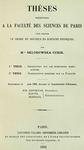 Curie: 'Thèse de Marie Curie'