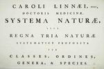 Linnaeus: 'Systema Naturae' ('A General System of Nature')