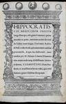 Hippocrates: 'The Hippocratic Corpus'
