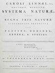 Linnaeus: 'A General System of Nature'