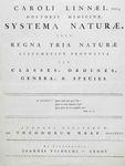 Linnaeus: 'A General System of Nature'
