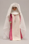 Doll wearing habit worn by Sister Servants of the Holy Spirit of Perpetual Adoration