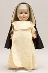 Doll wearing habit worn by Dominican Sisters of Blauvelt in 1950 by Violet Beam and Alice Fennegan
