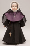 Doll wearing habit worn by Sisters of the Cenacle