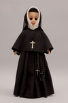 Doll wearing habit worn by Society of the Sacred Heart