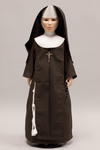 Doll wearing habit worn by Sisters of Saint Francis of Mary Immaculate