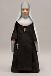 Doll wearing habit worn by Little Company of Mary