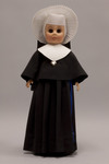 Doll wearing habit worn by Sisters of the Holy Cross