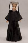 Doll wearing habit worn by Sisters of Charity of Saint Elizabeth
