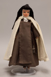 Doll wearing habit worn by Discalced Carmelite Nuns