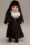 Doll wearing habit worn by Visitation Nuns