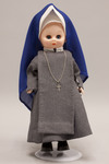 Doll wearing habit worn by Society of Catholic Medical Missionaries
