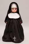 Doll wearing habit worn by Sisters of Notre Dame de Namur