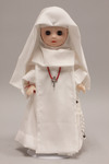 Doll wearing habit worn by the Missionary Sisters of Our Lady of Africa