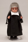 Doll wearing habit worn by Sisters of Saint Francis of Oldenburg, Indiana