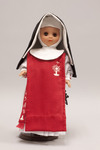 Doll wearing habit worn by Sisters of Perpetual Adoration