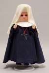 Doll wearing habit worn by Holy Spirit Missionary Sisters