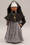 Doll wearing habit worn by Oblate Sisters of the Blessed Sacrament