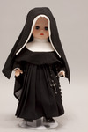 Doll wearing habit worn by Sisters of Charity of Cincinnati
