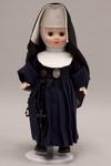 Doll wearing habit worn by Sisters of the Holy Humility of Mary