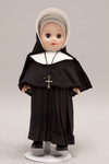 Doll wearing habit worn by Sisters of Providence of Saint Mary-of-the-Woods, Indiana