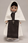 Doll wearing habit worn by Missionary Sisters of Our Lady of the Angels