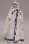 Doll wearing habit worn by Missionaries of Charity