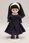 Doll wearing habit worn by Sisters of Mercy
