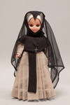Doll wearing habit worn by Grey Nuns of the Sacred Heart