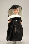 Doll wearing habit worn by Czechoslovakian School Sisters of Notre Dame, Omaha Province