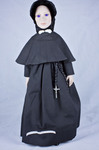 Doll wearing habit worn by Sisters of Charity of Saint Vincent de Paul, Emmitsburg Province
