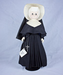 Doll wearing habit worn by Sisters of the Holy Cross by Genuine Nun Doll Inc.