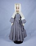 Doll wearing habit worn by Daughters of Wisdom by Genuine Nun Doll Inc.