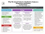 2012 - Why We Attend School: A Qualitative Retention Study at a Proprietary Higher Education Institution