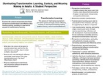 Illuminating Transformative Learning, Context, and Meaning Making in Adults: A Student Perspective