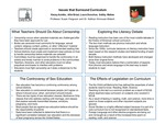 Research exercise: Syntheses of Research on School Curriculum