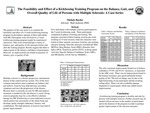 The Feasibility and Effect of a Kickboxing Training Program on the Balance, Gait, and Overall Quality of Life of Persons with Multiple Sclerosis: A Case Series