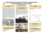 Appropriate Technology for Extraction of Essential Oils from Orange Peels in La Paz, Bolivia by Monica A. Guisfredi