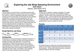 Exploring the Job Shop Queuing Environment